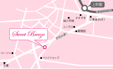 Sweet Breeze地図